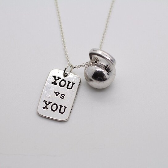 Buy YOU VS YOU & KETTLEBELL NECKLACE