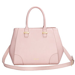 Hermit Tu Urban Chic Leather Handbag Shoulder bag- Rose Pink