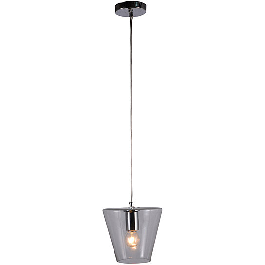 buy 1 light cone lamp modern pendant lamp clear glass pendant light by highlight usa llc on dot u0026 bo - Clear Glass Pendant Light