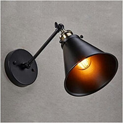 Industrial Edison Antique Matte Black Wall Sconce Simplicity
