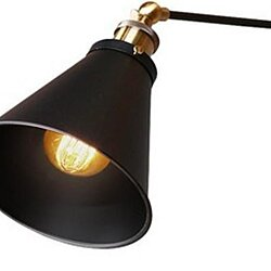Metal Black Industrial Swing Arm Wall Sconce Wall Lamp Light Fixture