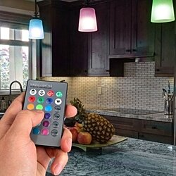 2-Pack Magic LED Light Bulb or Night Light with 16 Colors, 5 Modes and 24-Key Remote Control
