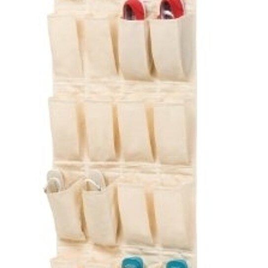 Buy honey can do bamboo canvas 24 pocket over the door for 12 pocket over the door shoe organizer