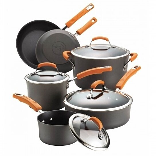 · Rachael Ray Hard Enamel Cookware Set - Purchased recently by my husband as a gift- the worse set of cookware I have ever had! After the first /5().