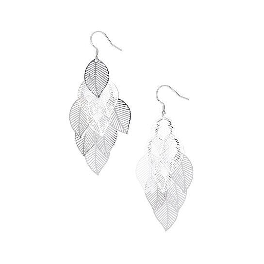 309f632e0 Buy Sterling Silver-Plated Ava Leaf Earrings by Hollywood Sensation, LLC on  Gemafina
