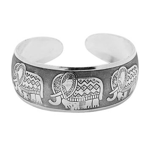 Elephant  Retro Silver Plated Bracelet-Elephant Bracelets for Women