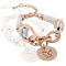 New Life Rose Gold Leather Bracelet With Butterfly Charm