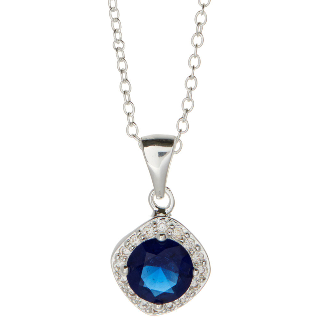 Windsor Necklace Sterling Silver Plated 925