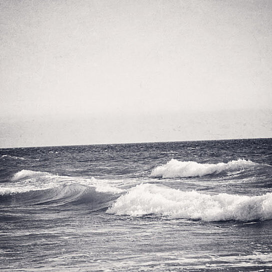 Vintage waves black and white beach photography california pacific ocean sea vacation nautical cresting waves