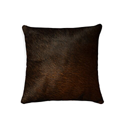 "TORINO COWHIDE PILLOW 18""X18"" CHOCOLATE"