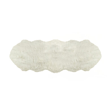 gordon faux sheepskin rug double 2u0027 x 6u0027 off white