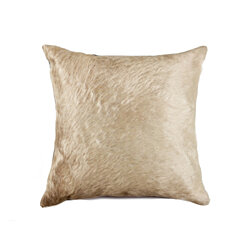 "TORINO COWHIDE PILLOW 18""X18"" NATURAL"