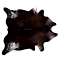 KOBE COWHIDE RUG Aprox  6'X7' SALT&PEPPER CHOCOLATE/WHITE