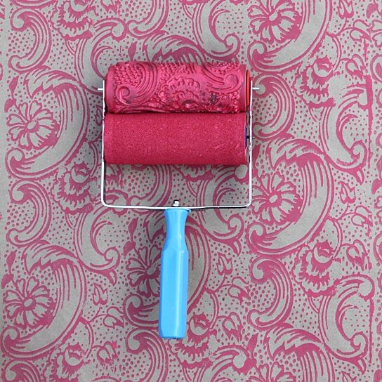 Patterned Paint Roller buy patterned paint roller in night dahliaharlow collection on