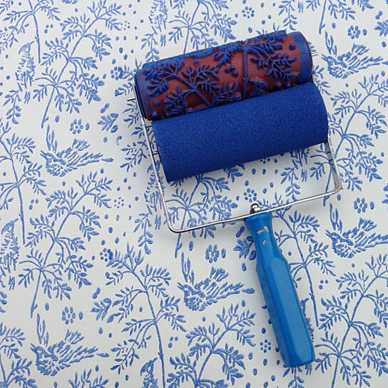 Buy Patterned Paint Roller In Spring Bird By Harlow Collection On Opensky