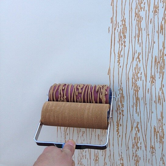 Buy Wood Grain Patterned Paint Roller By Harlow Collection