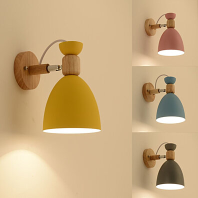 Creative Wall Lamp Swing Head Sconce Light Bedroom Lighting Bedside Reading