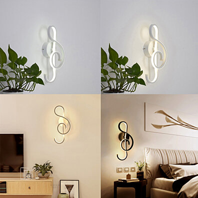 Led Indoor Wall Lamps 22w Wall Lamps With Clock Function Acrylic Lampshade Sconce Light For Living Room Bedroom Bedside Aisle Home Decorate Wall Light