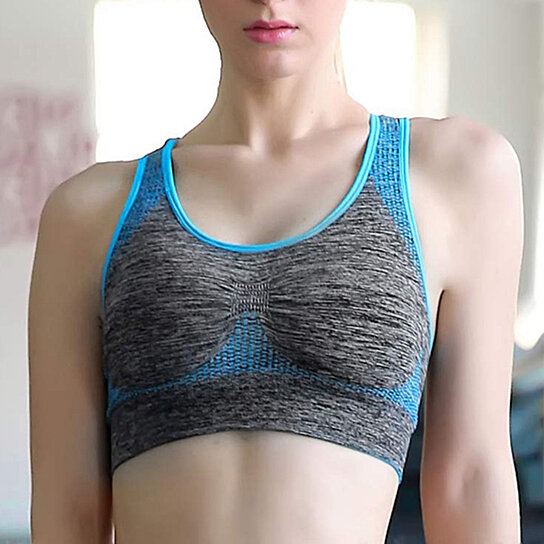 Buy Women Seamless Sports Bra High Impact Pocket Yoga Bra