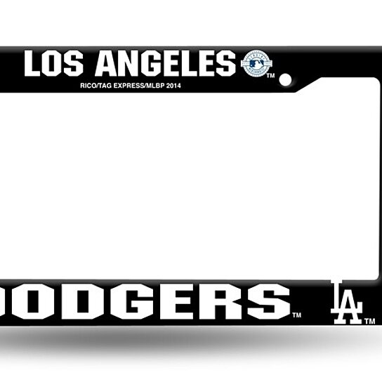 Buy Los Angeles Dodgers Black License Plate Cover Frame NEW!! 6x12 ...
