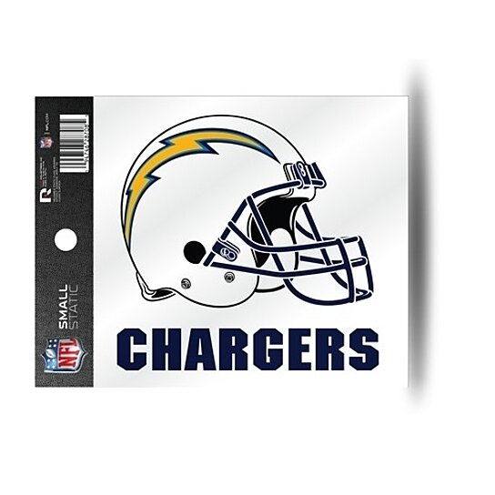Buy Los Angeles Chargers Helmet Static Cling Sticker New