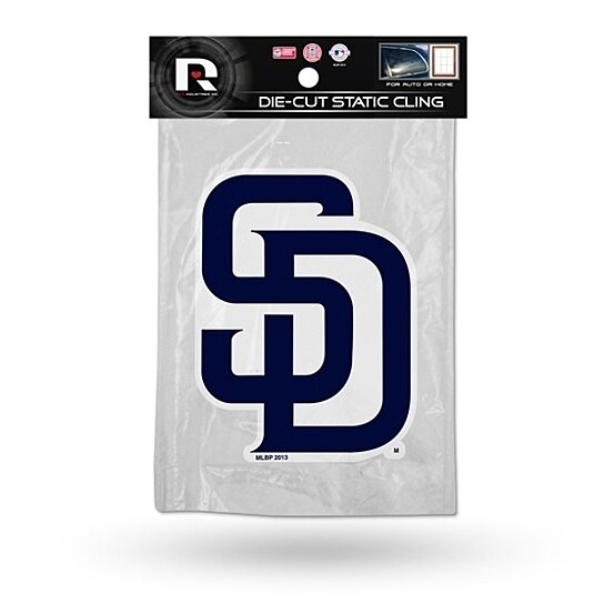 Buy San Diego Padres Die Cut Static Cling Decal Sticker 4