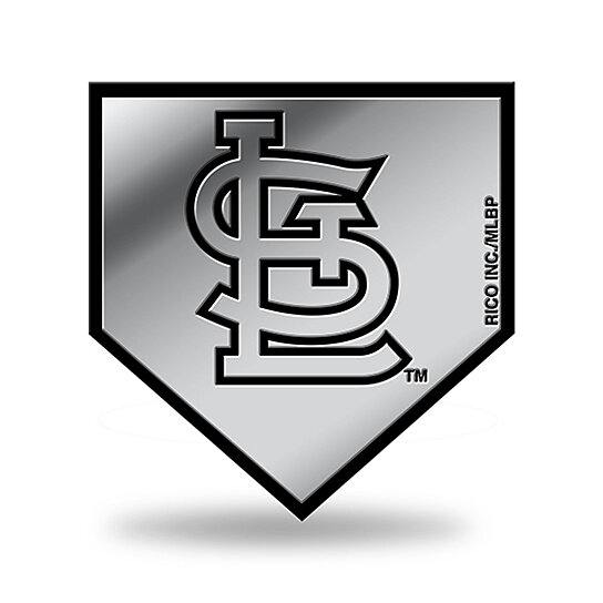 Buy St Louis Cardinals Logo 3d Home Plate Chrome Decal Sticker New Truck Car Rico By Hub City