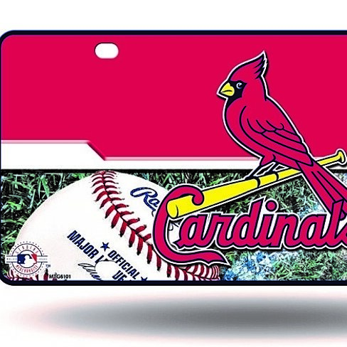Buy St Louis Cardinals Logo Aluminum License Plate New Mlb By Hub City Sports On Opensky