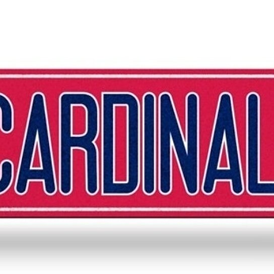 Buy St Louis Cardinals Street Bling Sign New 4 X16 Cardinals St Man Cave By Hub City