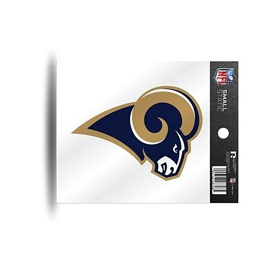 Buy Los Angeles Rams Logo Static Cling Sticker New Window Or Car Nfl By Hub City Sports On