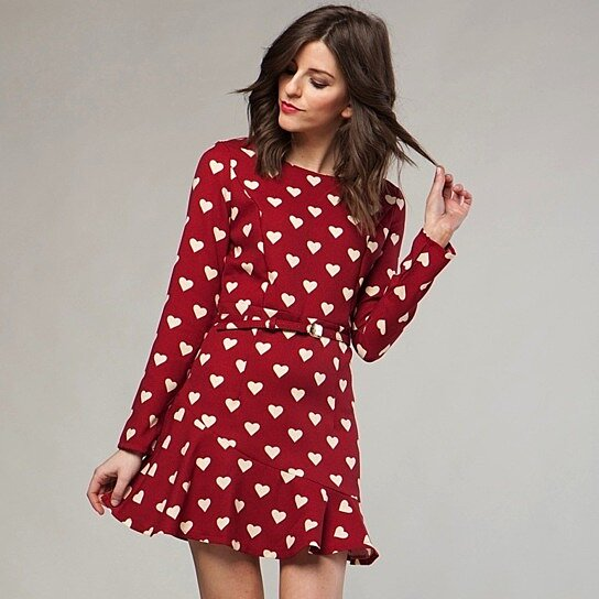 Buy graphic valentine the printed hearts dress by
