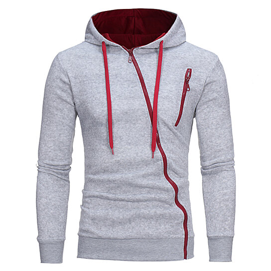 Hoodie Oblique Zipper Solid Color Hoodies Men Fashion Tracksuit Sweatshirt Men Hoody Mens Whiskey Bts
