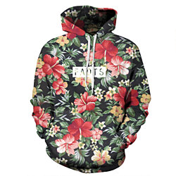 Floral Hoodies Men Sweatshirt Floral Facts Print Men Women  Unisex Couple Models Casual Sweatshirt