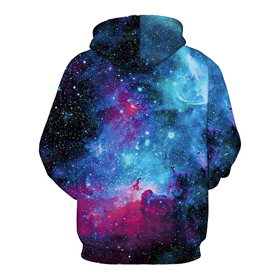 Hoodie Men Sweatshirt Space Universe Fashion Casual Pullovers Streetwear Tops
