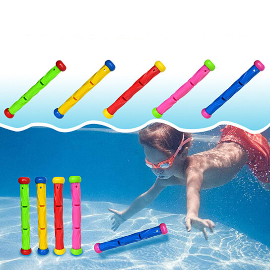 Diving Ring Sea Plant Rod Summer Swimming Pool Underwater Game Throwing Toys