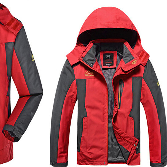 Men Jacket Hooded  Wind Proof  Water proof Breathable  Jacket  Outdoor Mountaineering Clothing