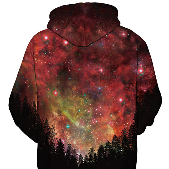 Men Hooded Sweatshirt Space Galaxy Plus  Size New Coat