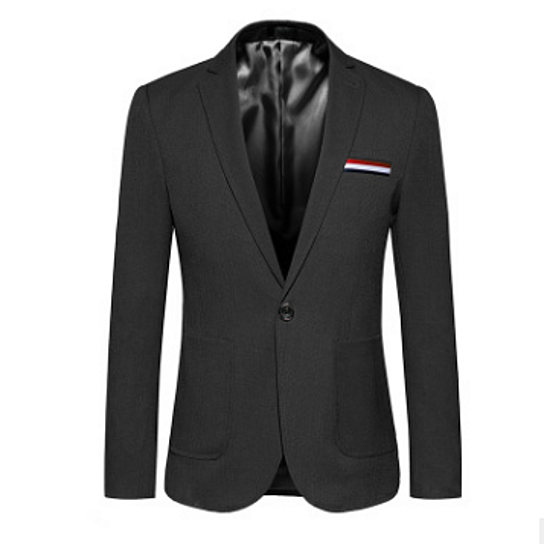 Men Casual Single Breasted One Button Blazer Jacket Slim