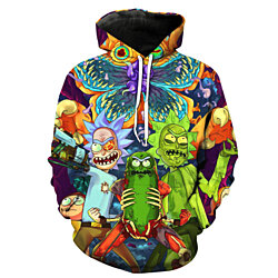 Men Hoodies 3D Sweatshirt Star Cosmos Rick and Morty Hoodies 3D Print Unisex Sweatshirt Scientist Rick
