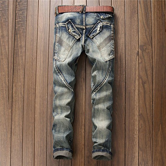 Men Skinny Ripped Destroyed Distressed Straight Slim Tapered Leg Jeans