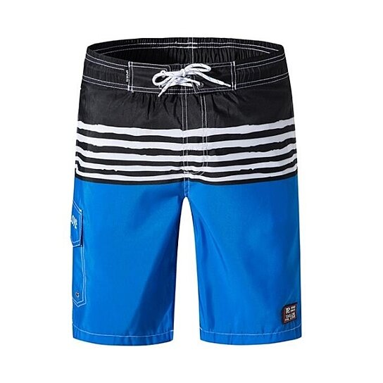 Men's Beachwear Surf Trunks Striped Printed Fast Dry with Side Pocket