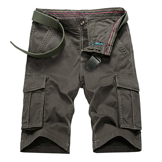 Mens Cargo Shorts with Multi Pocket Cotton Relaxed Fit Casual Outdoor Wear