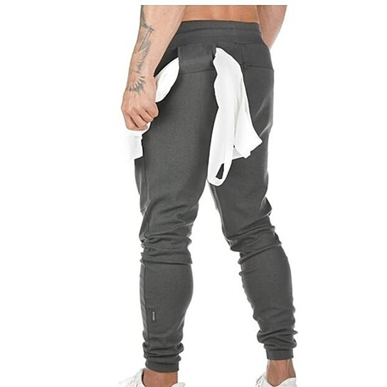 Men's Casual Jogger Sweatpants Basic Jogger Pant Elastic Waist With Pocket