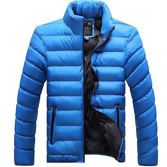 Men's Coats Winter Casual Outwear Qulited Cotton Down Jacket