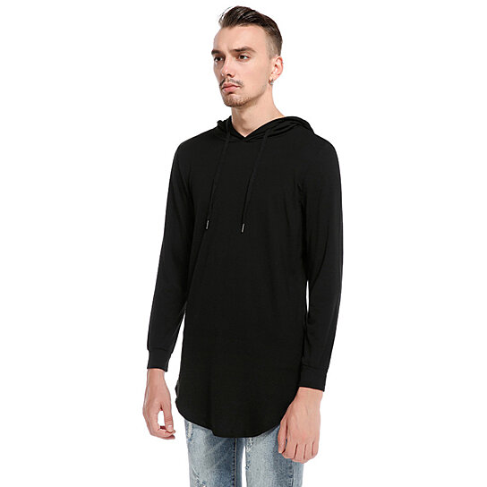 Men's Hooded T-shirt Long-Sleeved Hoodie