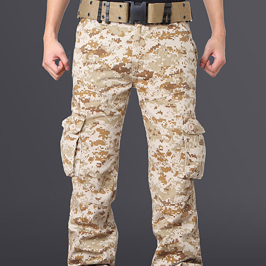 Mens Wild Cargo Pants Camouflage Cotton Casual Military Army Cargo Camo Combat Work Pants With Pocket
