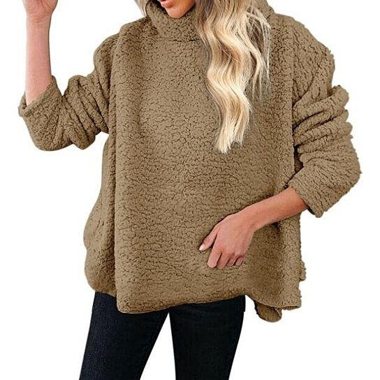 Men's Sweater Cardigan Knitted Turtleneck Sweater Outwear Solid Color Coat