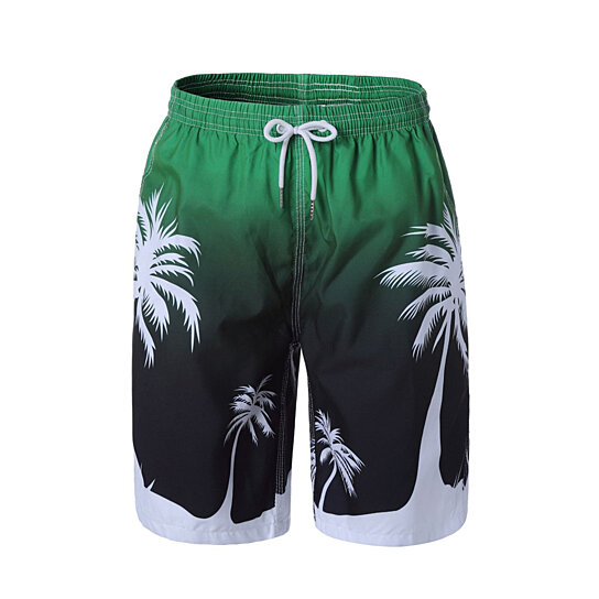 Mens Swim Board Shorts Quick Dry Printed Trunks Swimwear with Pockets