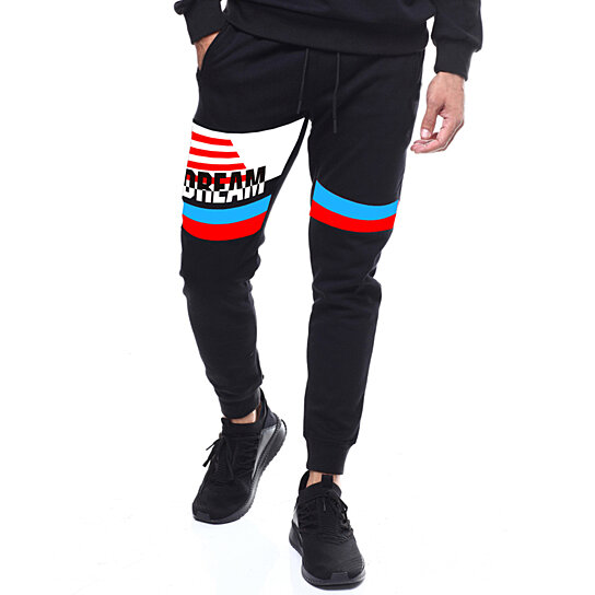 Mens Track Pants Skinny Fit Stretch Elastic Training Pants