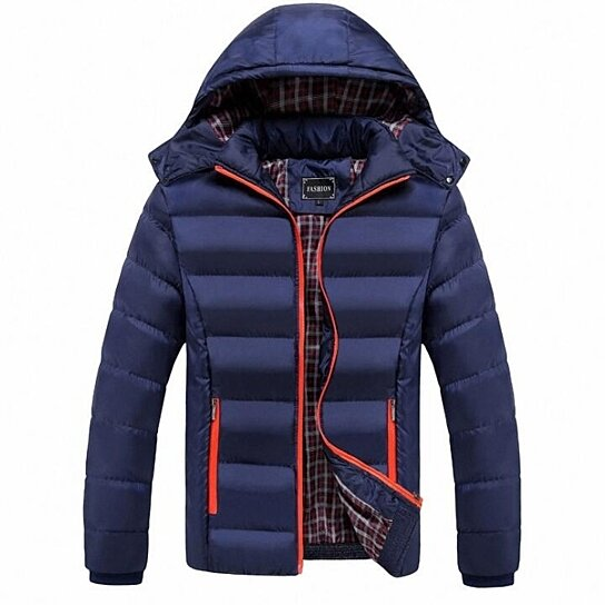 Mens Winter Hooded Cotton Thick Puffer Jacket
